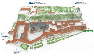 Mapa del Castillo de Praga