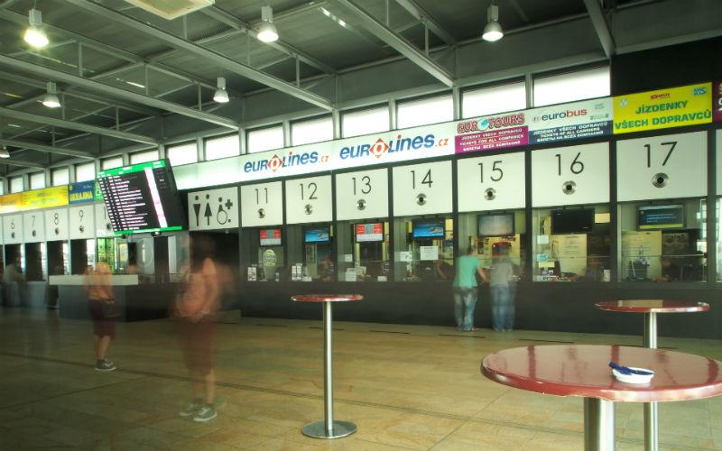 Estación de autobuses de Praga